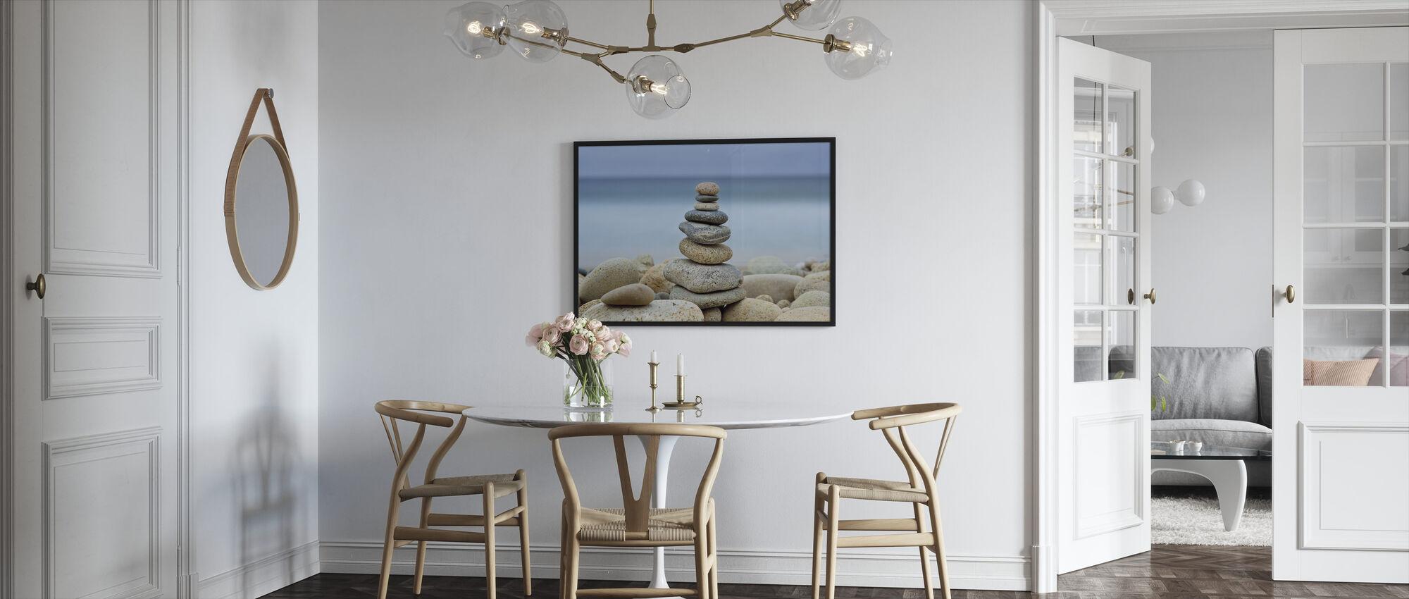 Steinmur Strand Cairn - Innrammet bilde - Kjøkken