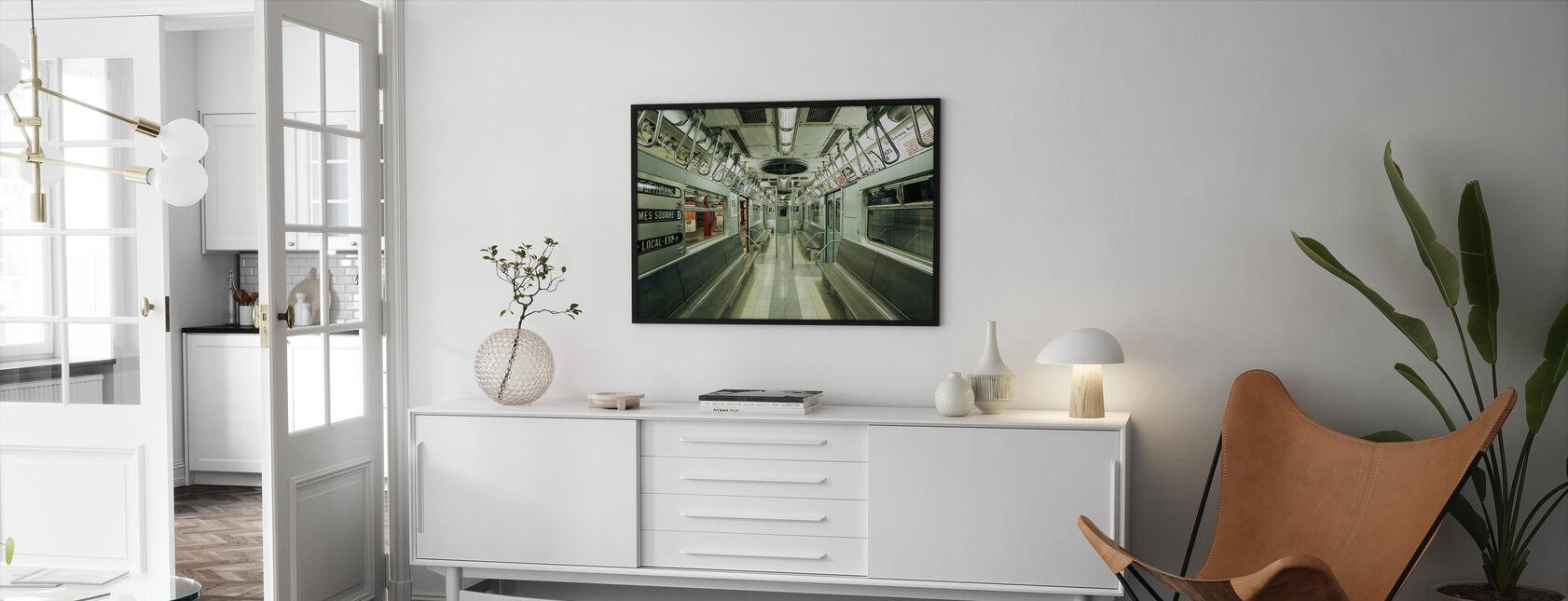 NYC tunnelbana - Inramad tavla - Vardagsrum