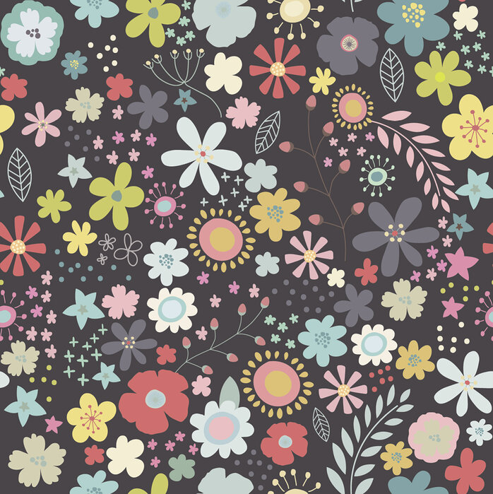 Floral art pattern 2 papel pintado personalizado y de for Papel pintado personalizado