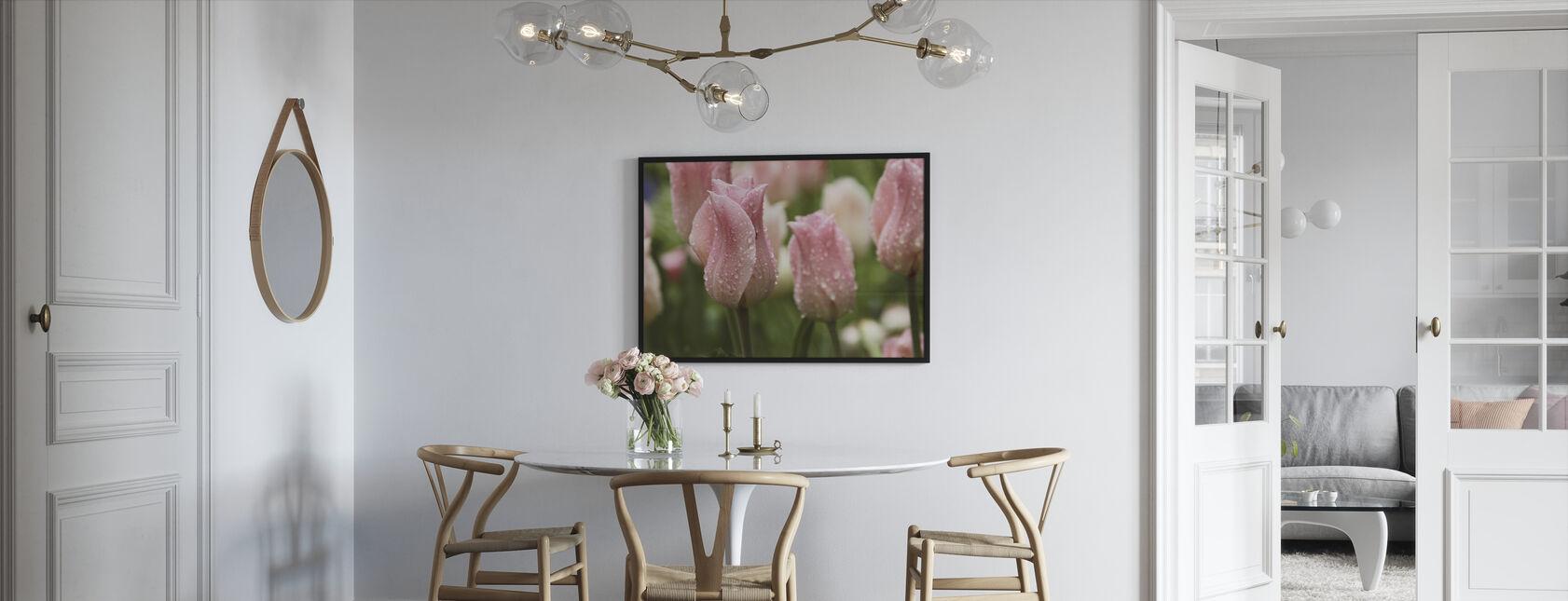 Tulips After Rain - Framed print - Kitchen
