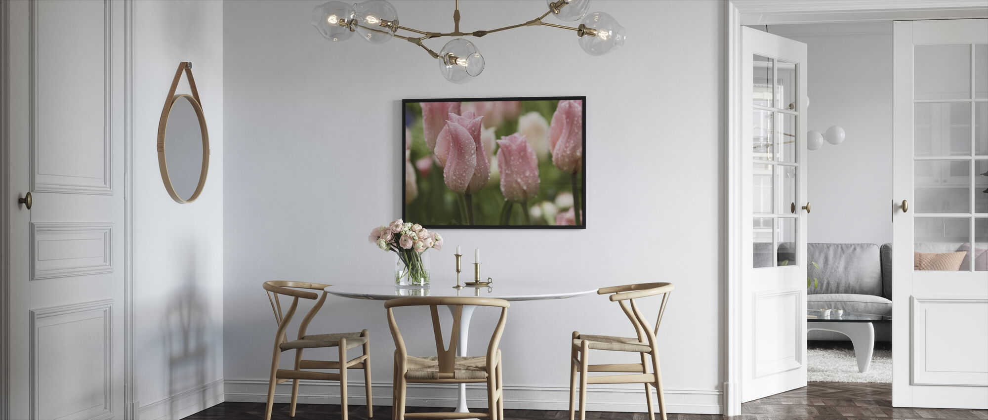 Tulips After Rain - Framed print - Kitchen