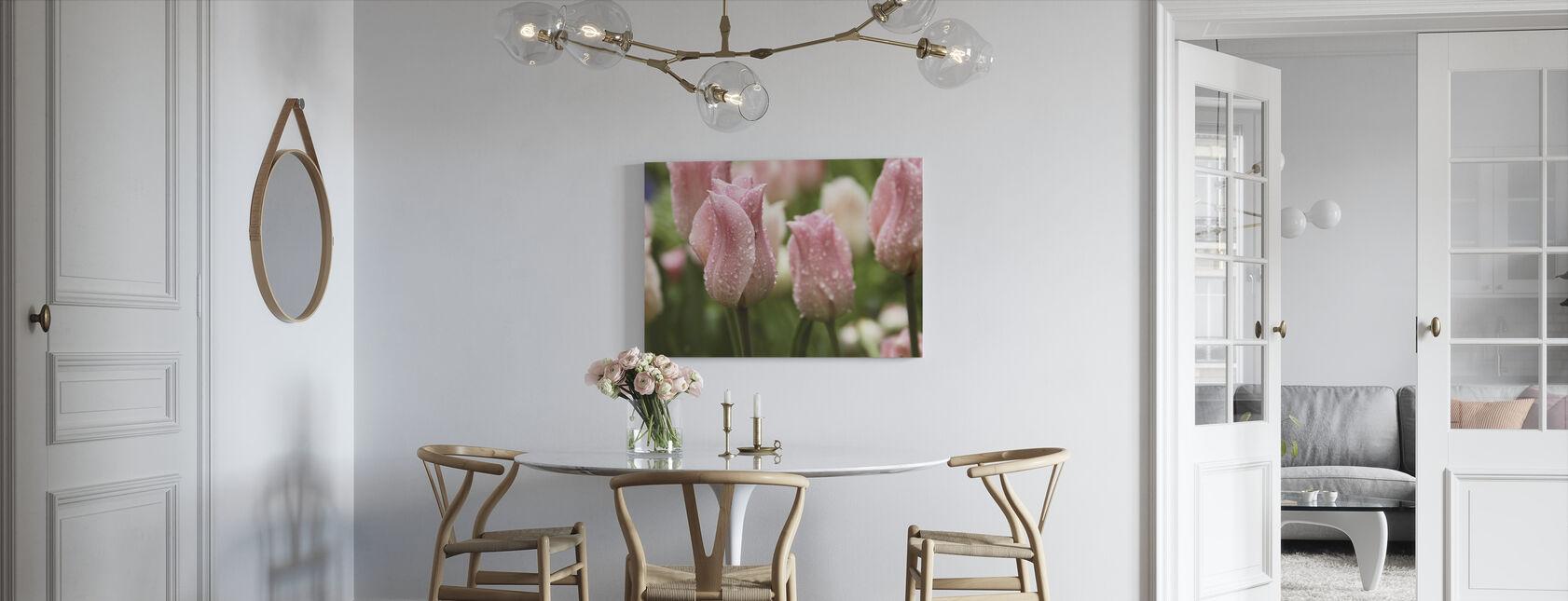 Tulips After Rain - Canvas print - Kitchen