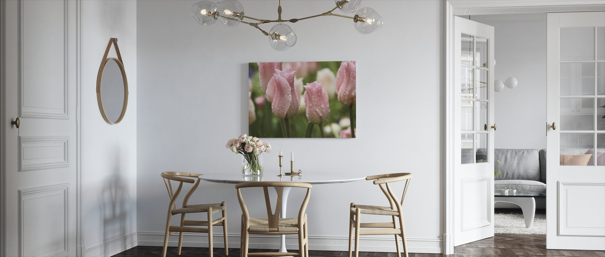 Tulips After Rain - Canvas print - Kitchen