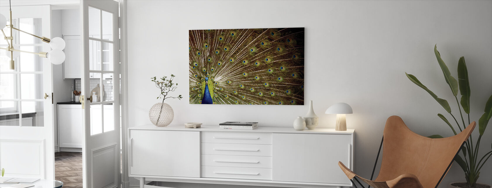 Proud as a Peacock - Canvas print - Living Room