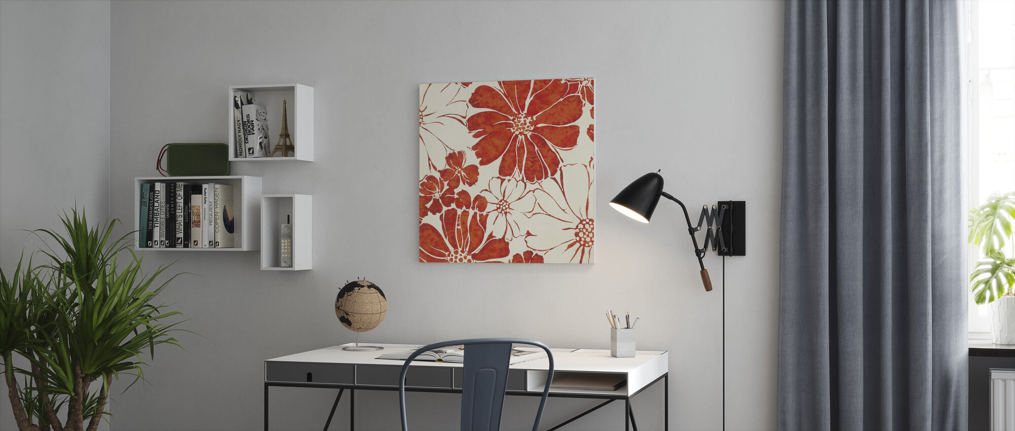 Zomer Madeliefjes Rood - Canvas print - Kantoor