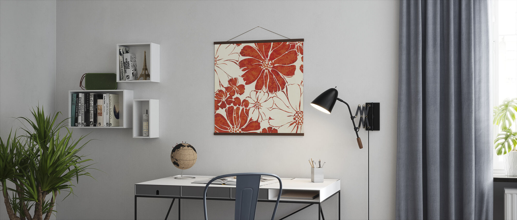 Summer Daisies Red - Poster - Office