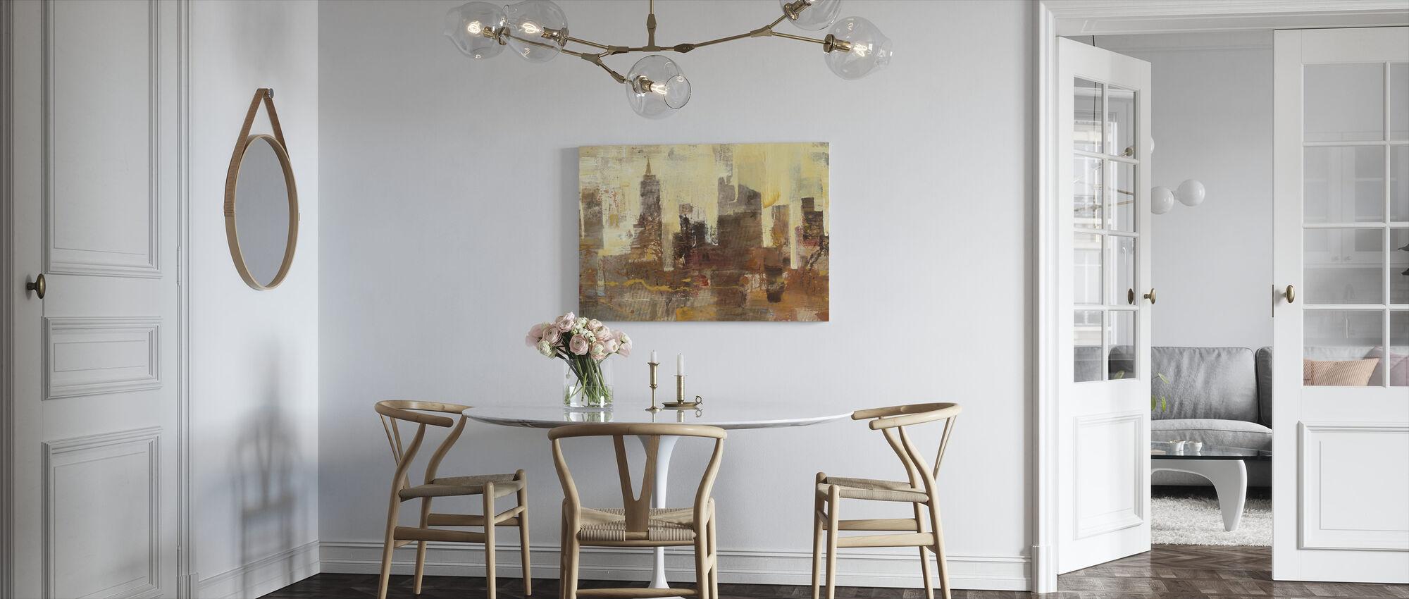 City Skyline at Dusk - Canvas print - Kitchen