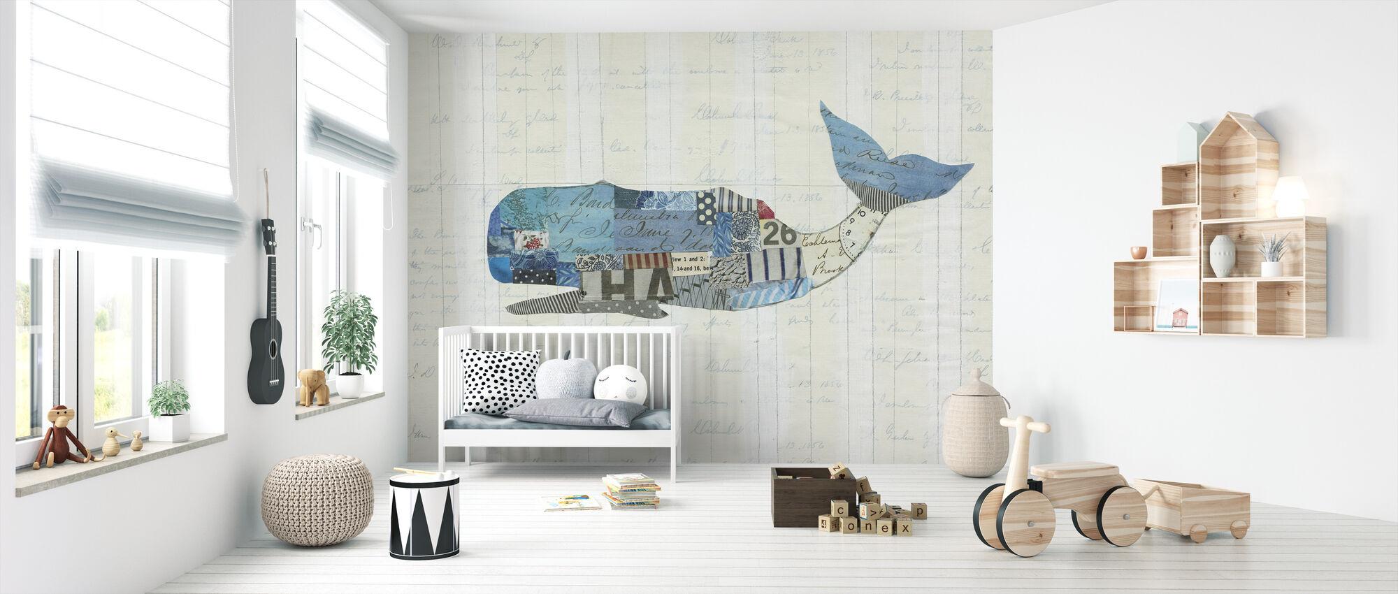 In the Ocean Fish - Wallpaper - Nursery