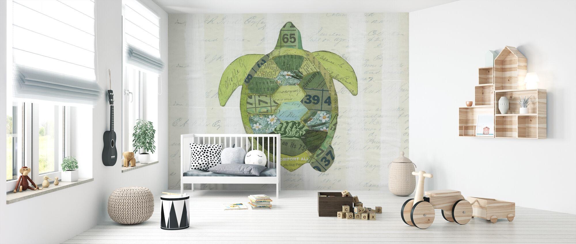 I havet skildpadde - Tapet - Babyværelse