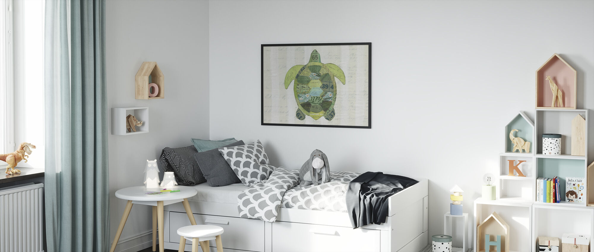 In the Ocean Turtle - Framed print - Kids Room