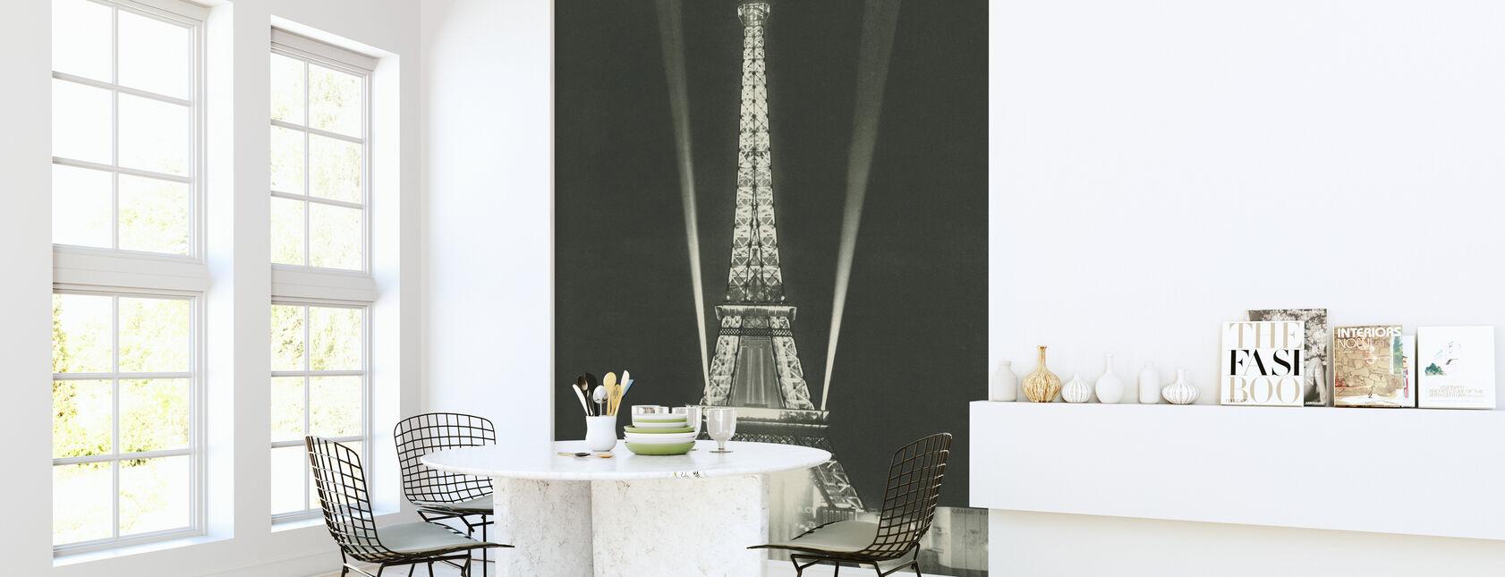 Eiffel Tower Lights - Wallpaper - Kitchen