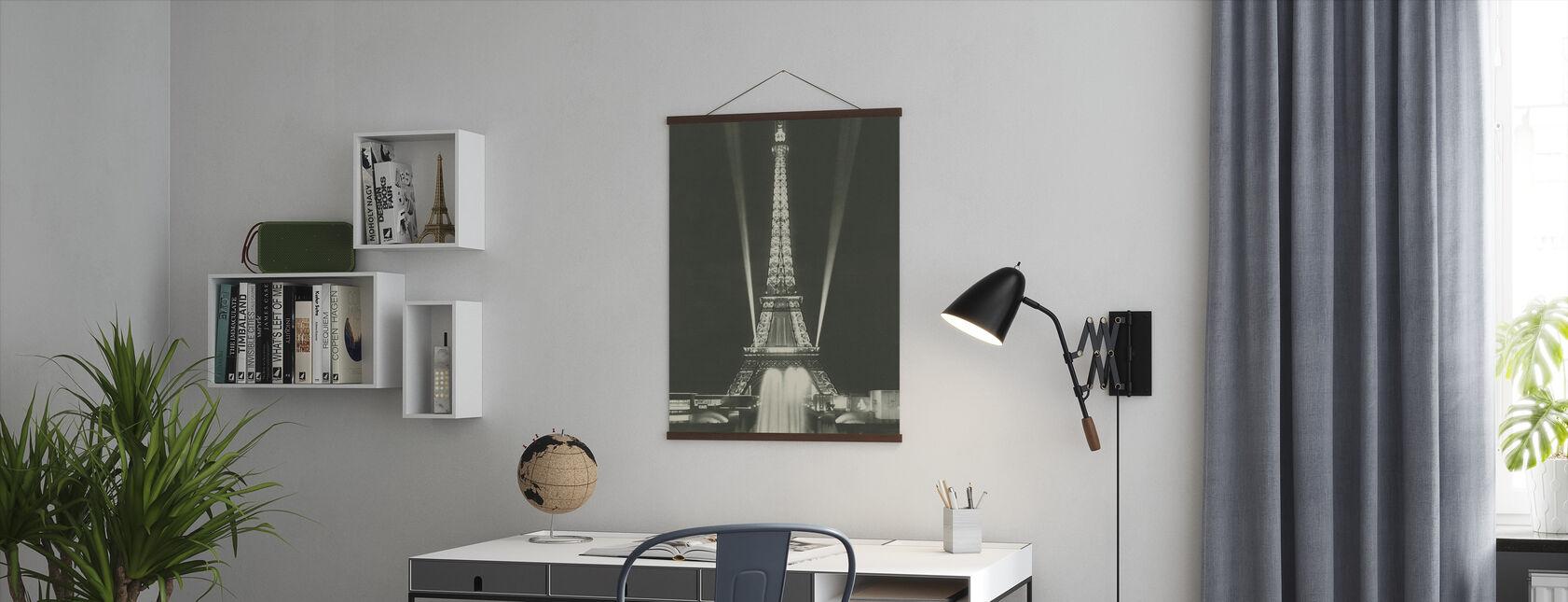 Eiffel Tower Lights - Poster - Office