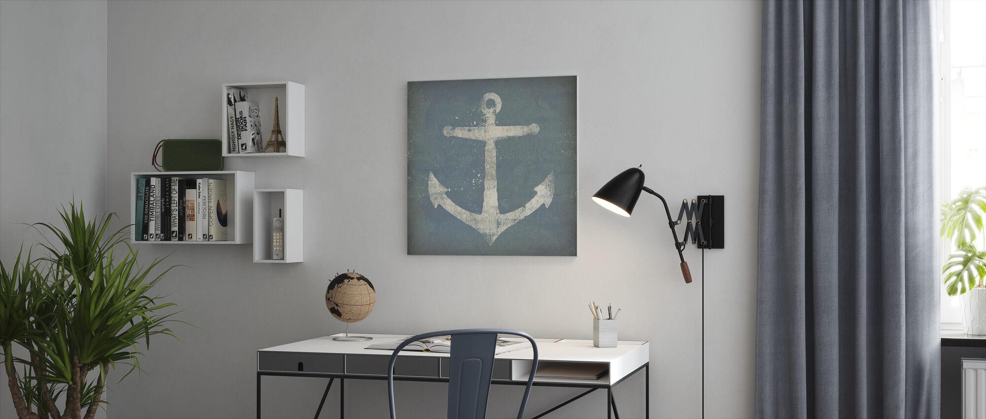 Anker Vierkant - Canvas print - Kantoor