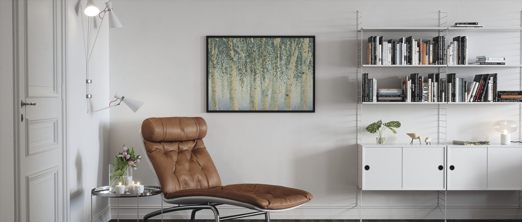 Sweeping Branches - Framed print - Living Room