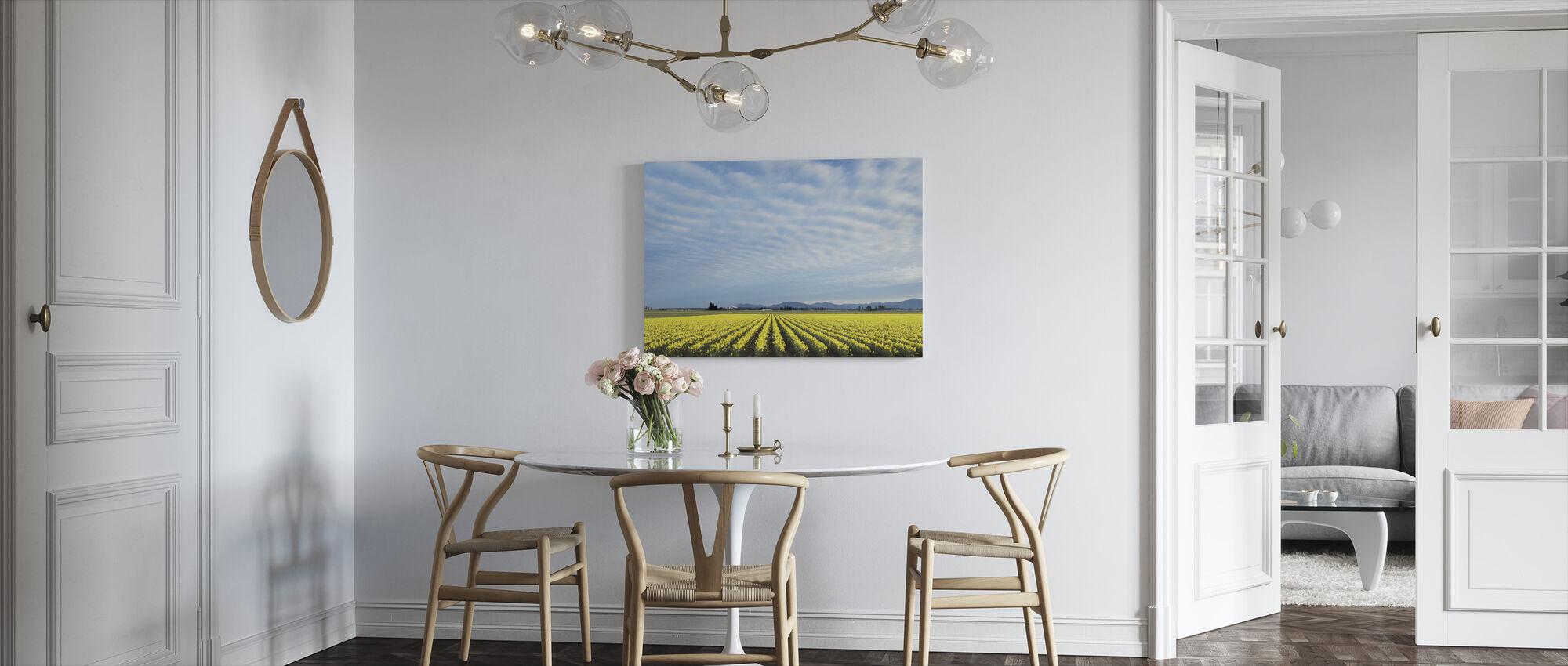Skagit Valley Påskeliljer - Billede på lærred - Køkken