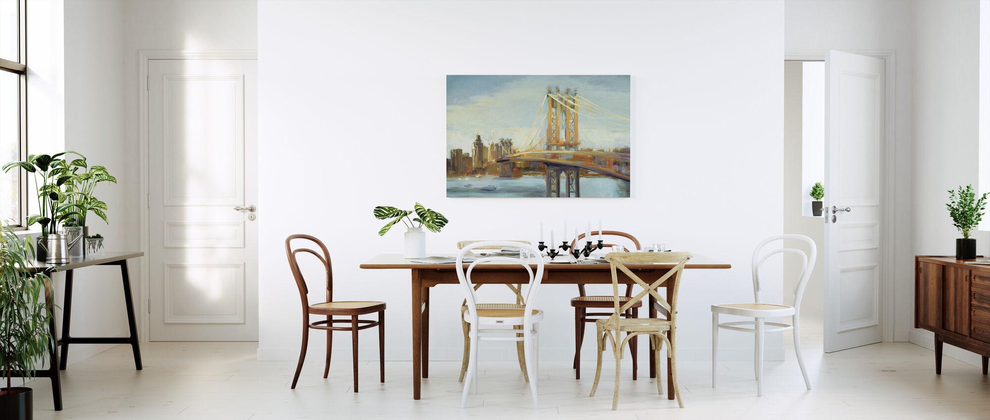 Sunny Manhattan Bridge - Canvas print - Kitchen
