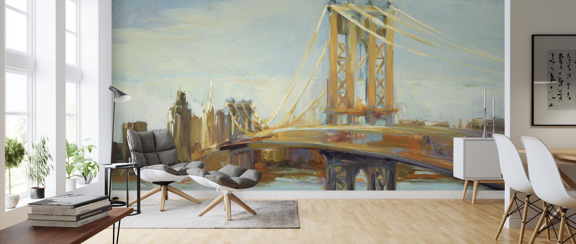 Sunny Manhattan Bridge - Wallpaper - Living Room