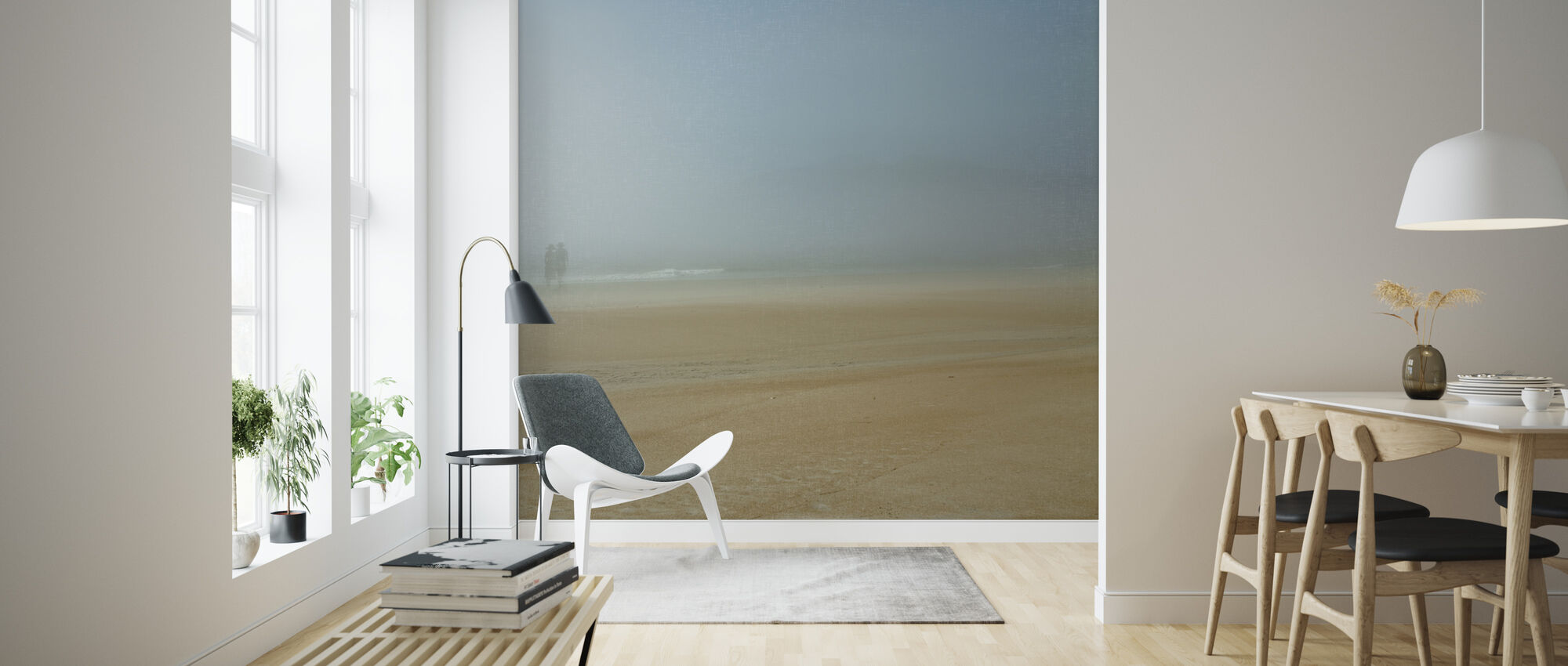 Beach Stroll - Wallpaper - Living Room