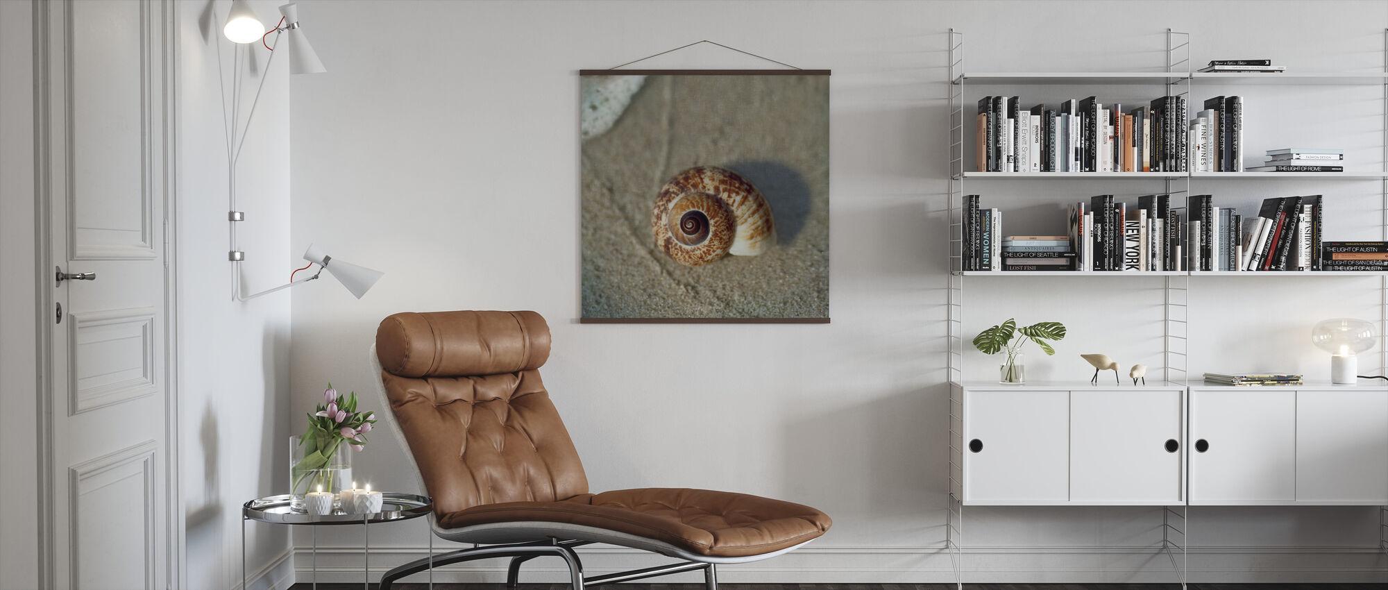 Zand Surf Shell - Poster - Woonkamer