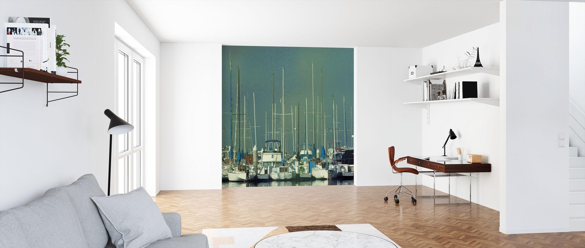 Harbor Boats - Wallpaper - Office