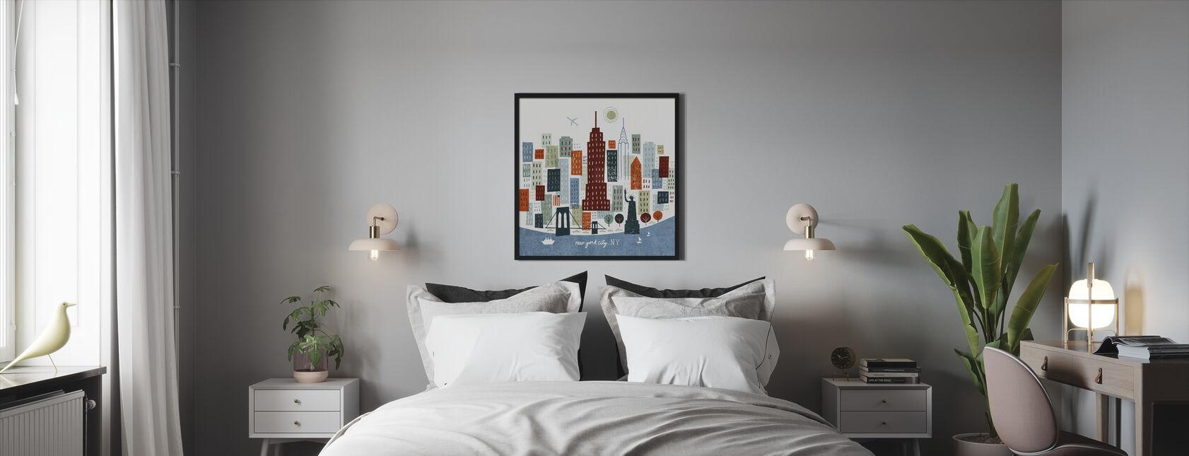 Colorful New York - Framed print - Bedroom