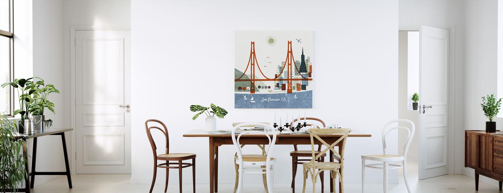 Colorful San Francisco - Canvas print - Kitchen