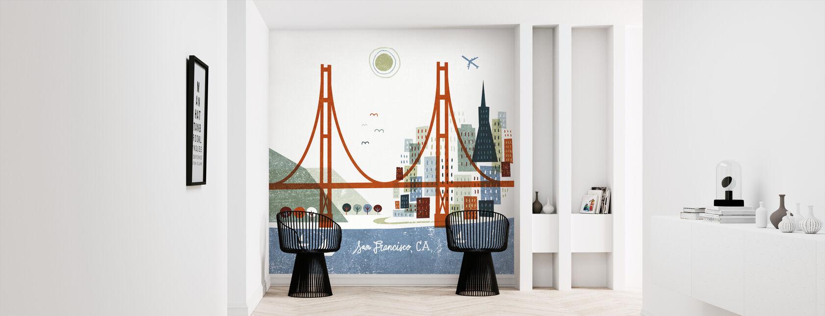 Colorful San Francisco - Wallpaper - Hallway
