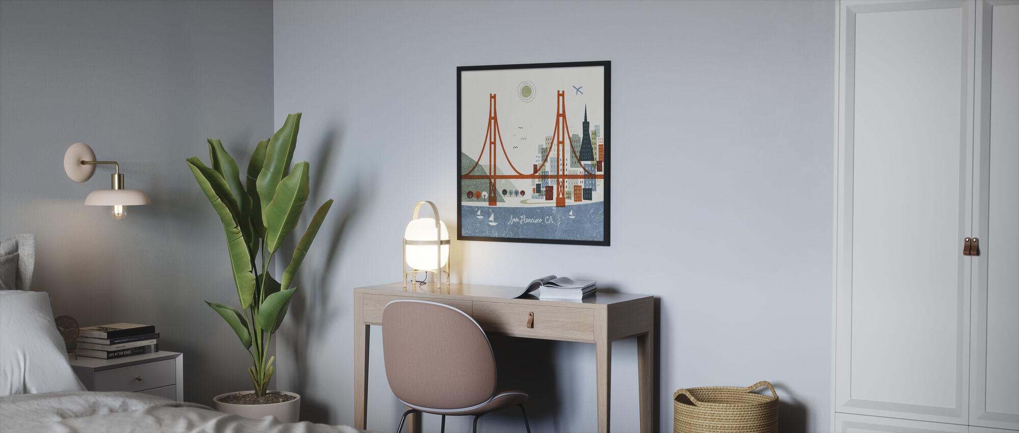 Colorful San Francisco - Framed print - Bedroom