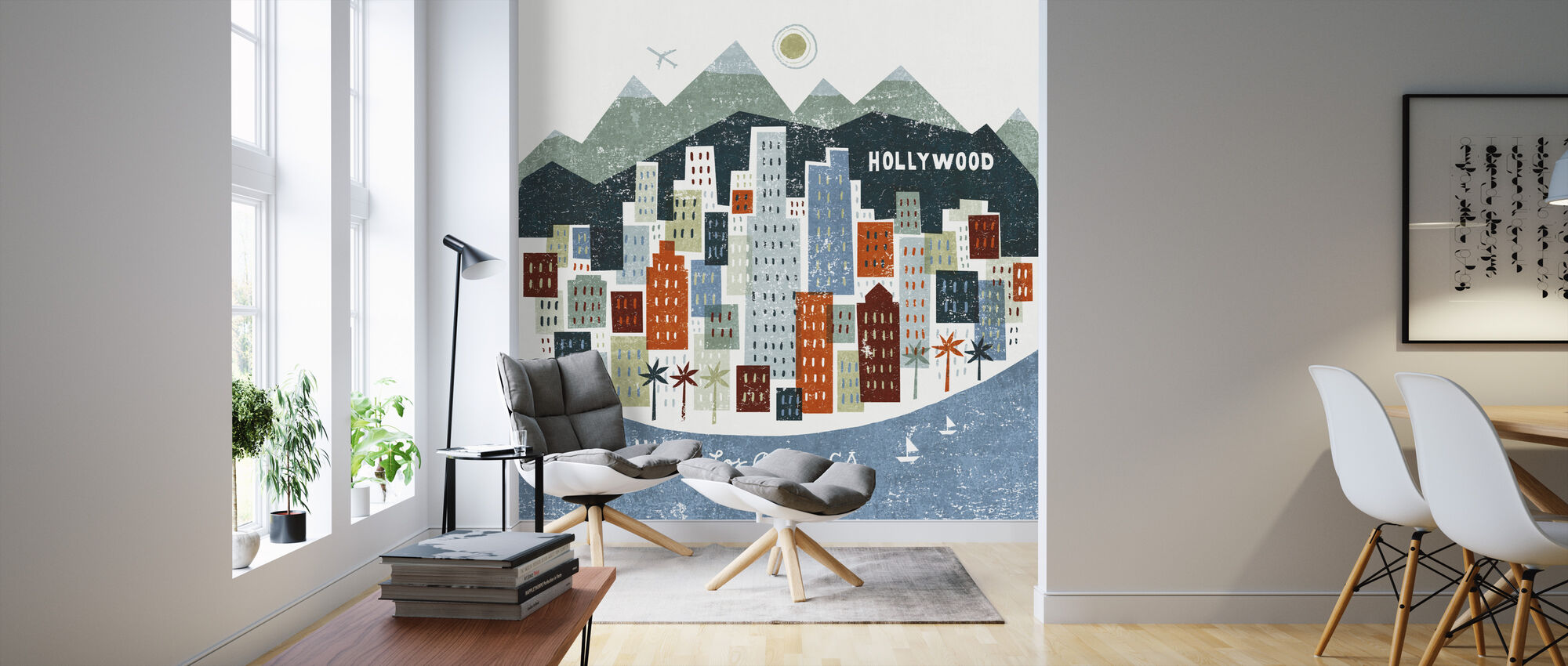 Colorful Los Angeles - Wallpaper - Living Room
