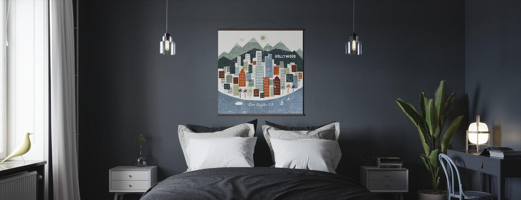 Värikäs Los Angeles - Juliste - Makuuhuone