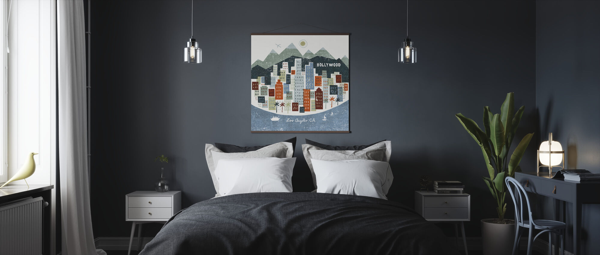 Colorful Los Angeles - Poster - Bedroom