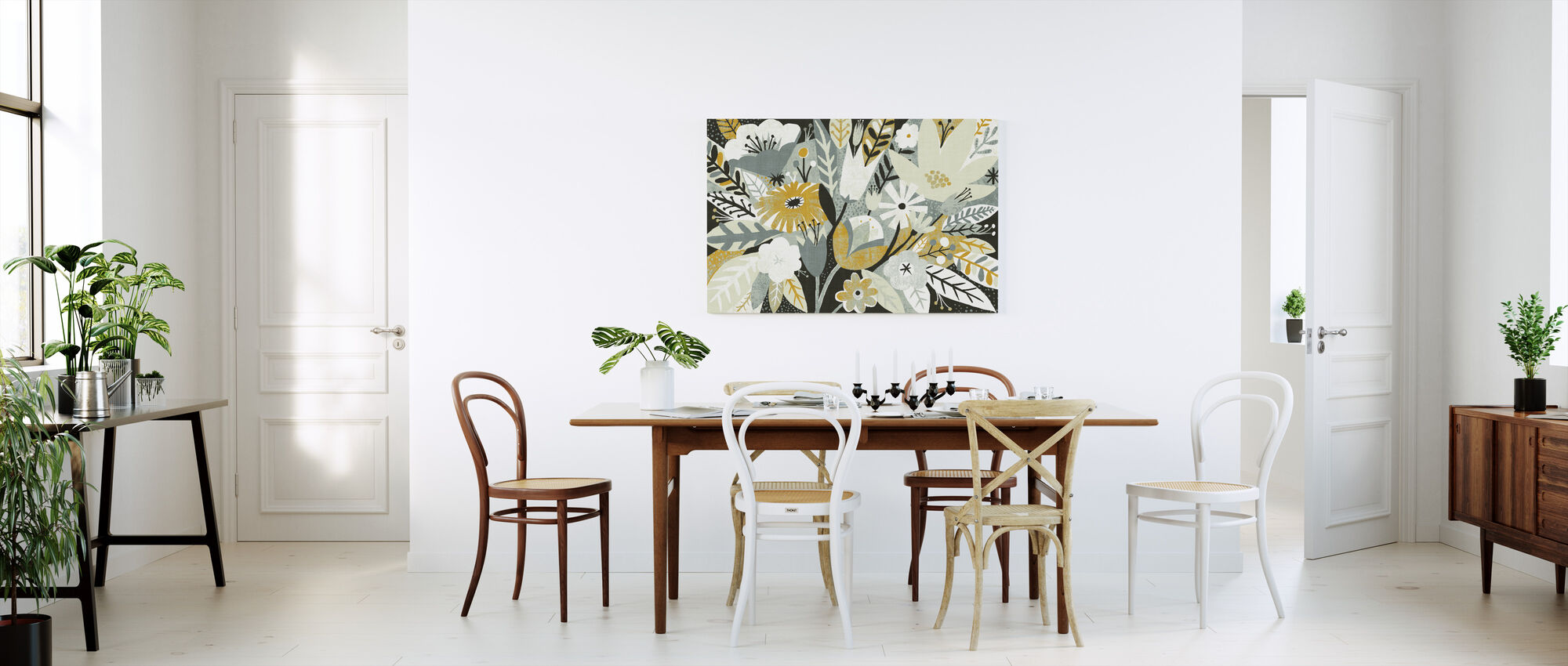 Vintage Bouquet Yellow - Canvas print - Kitchen