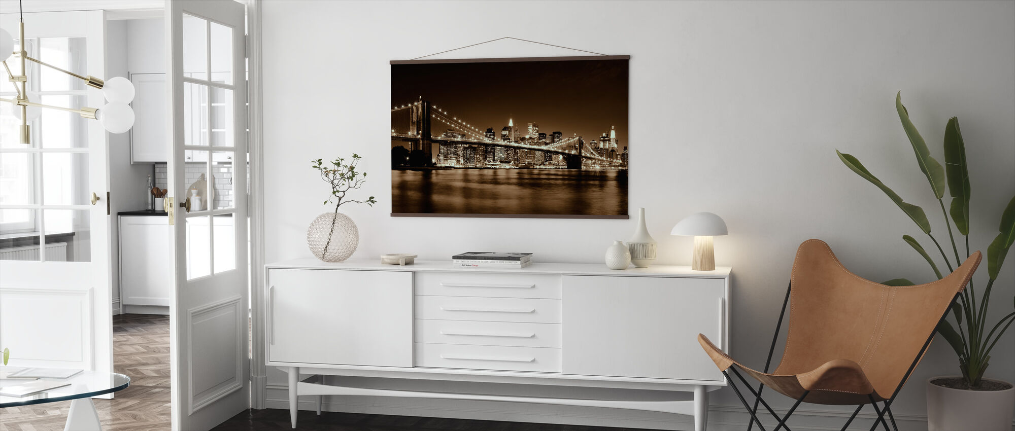 Brooklyn Bridge - Yellow - Poster - Living Room
