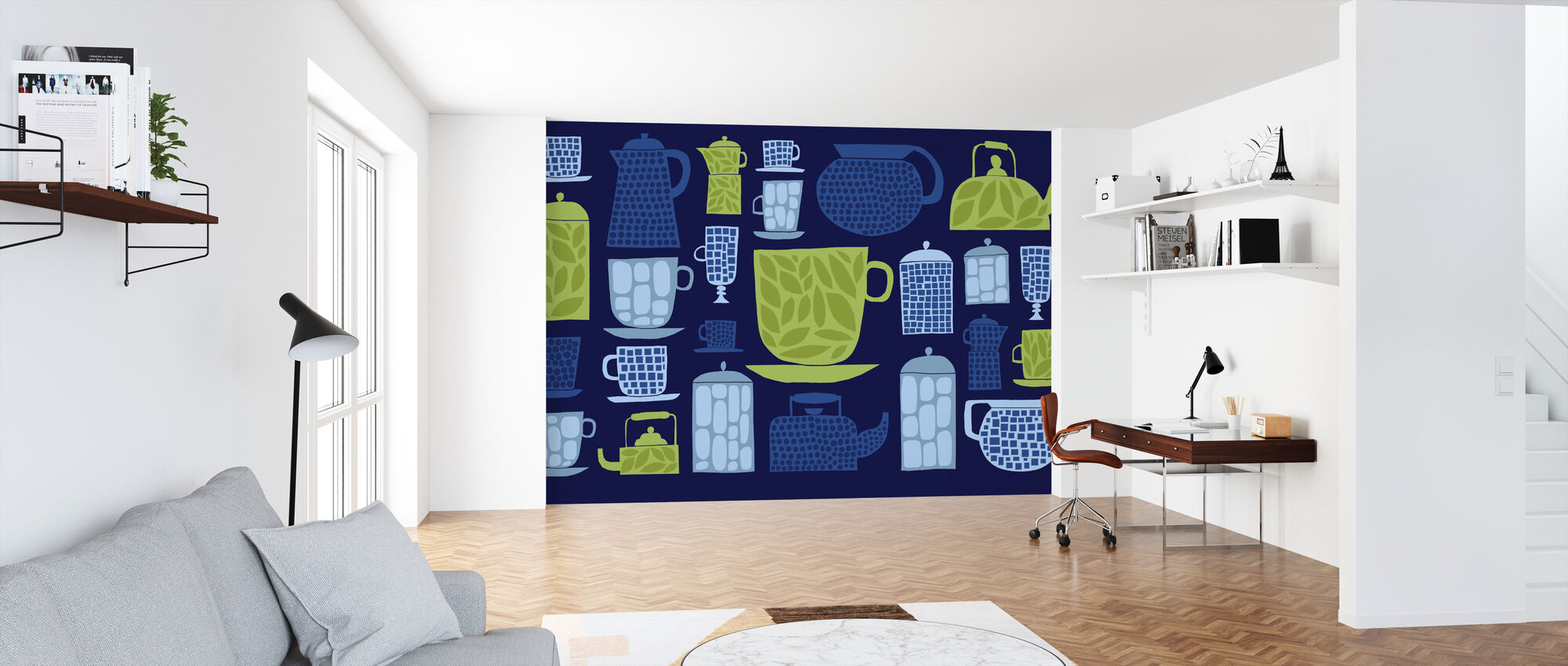Retro Kitchen II - Wallpaper - Office