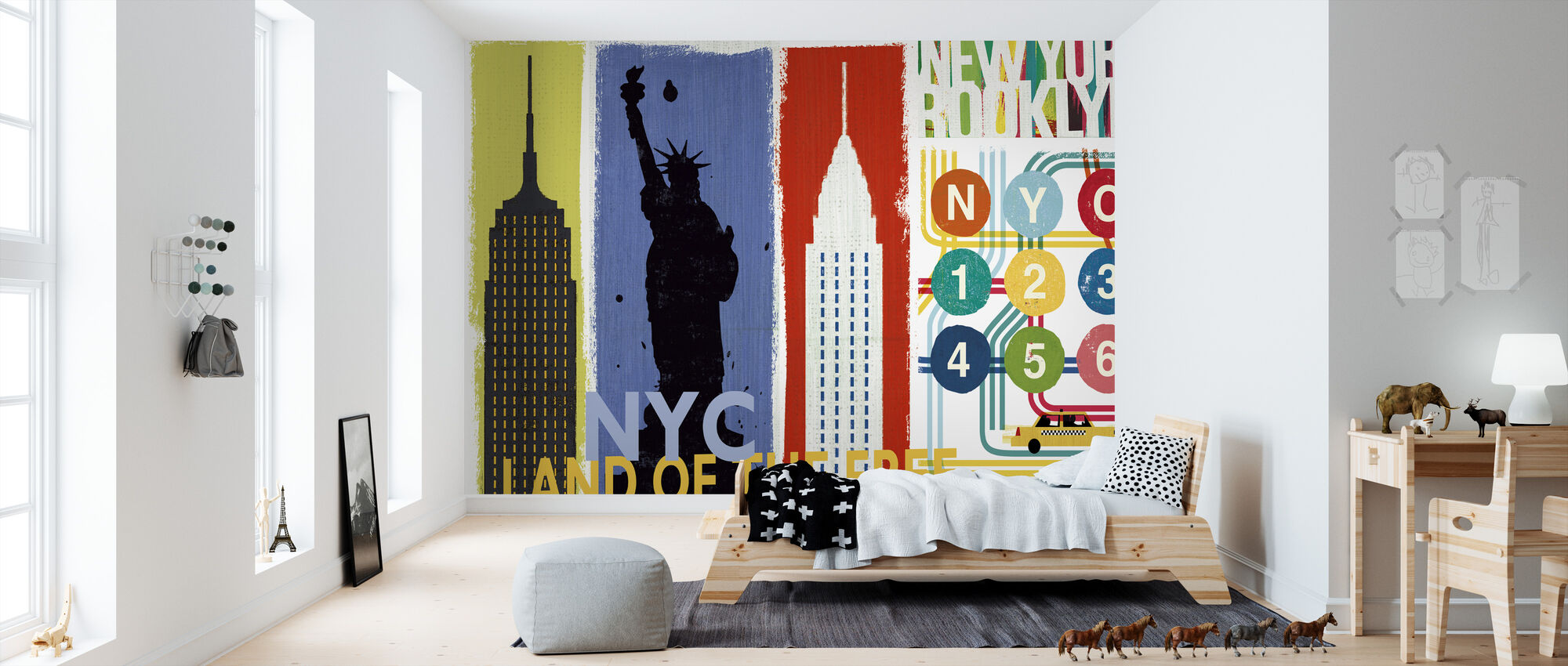 New York City Leven II - Behang - Kinderkamer