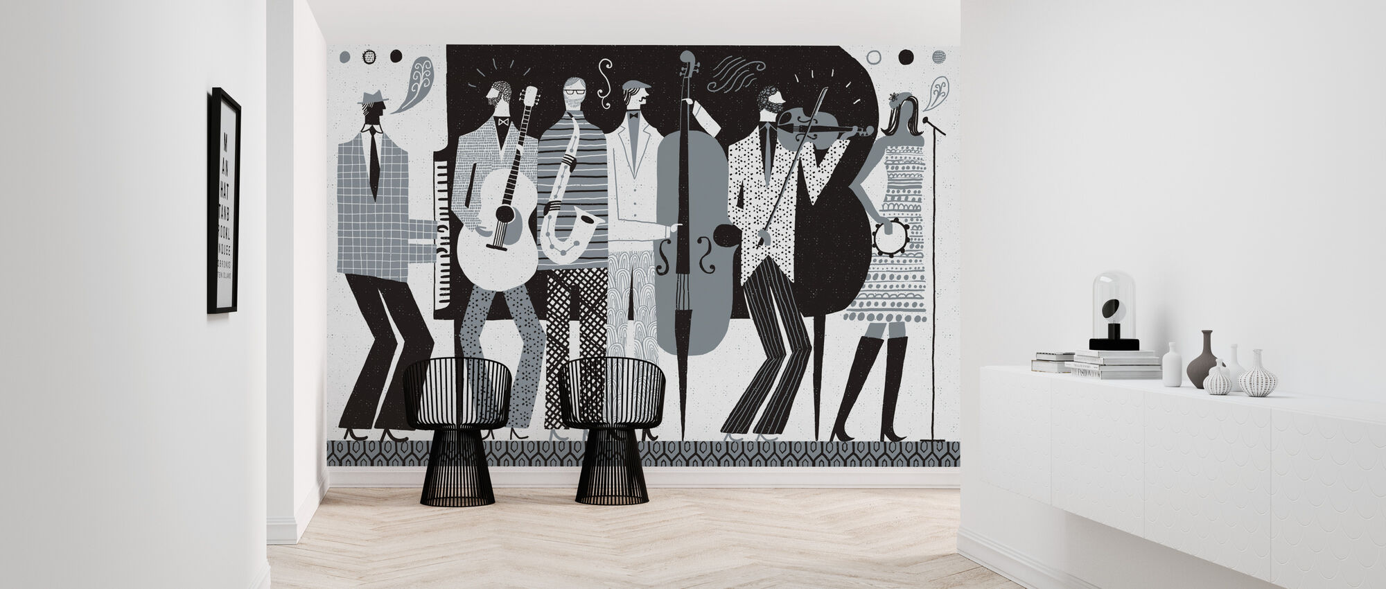 The Band Black and White - Wallpaper - Hallway