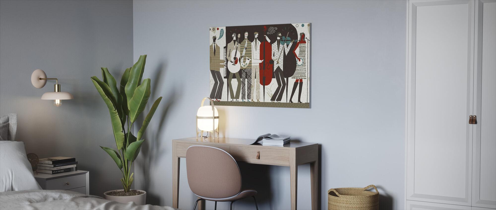 De band Neutraal - Canvas print - Kantoor