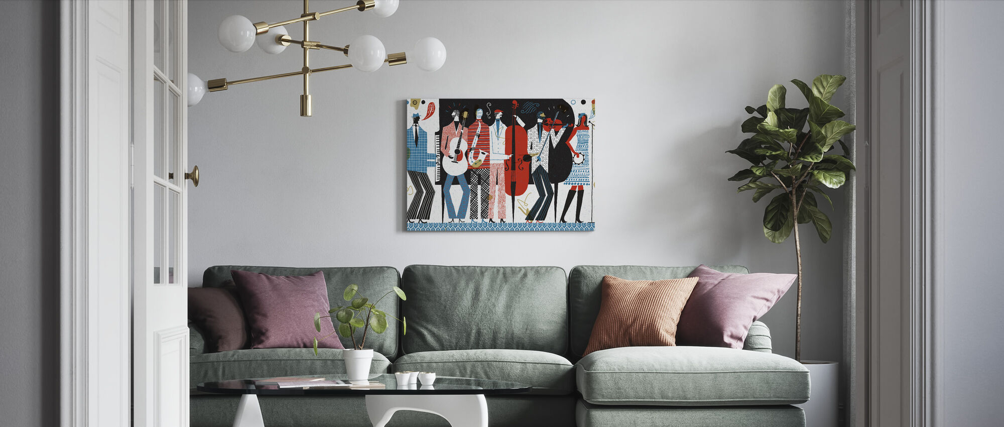 The Band - Canvas print - Living Room