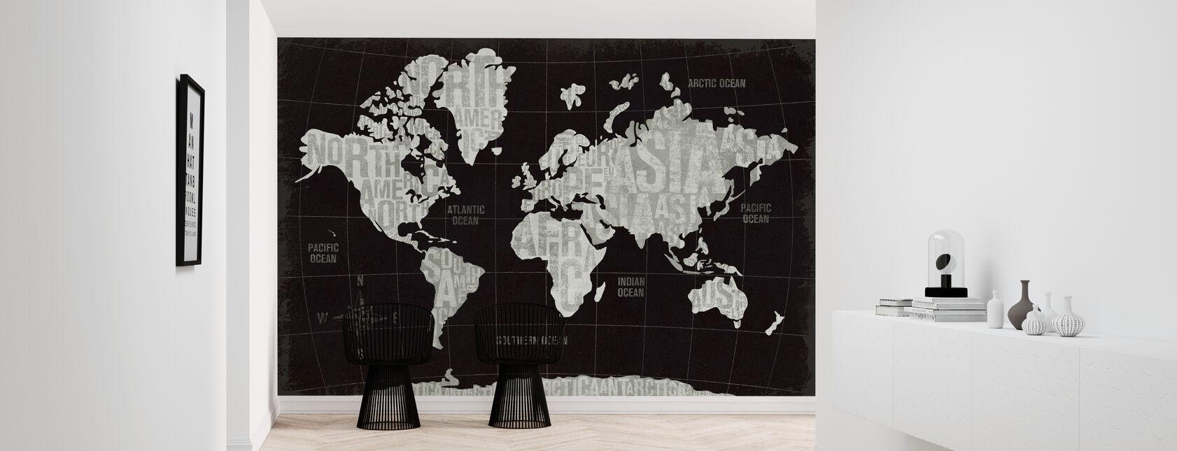 Moderne Wereld Zwart - Behang - Gang