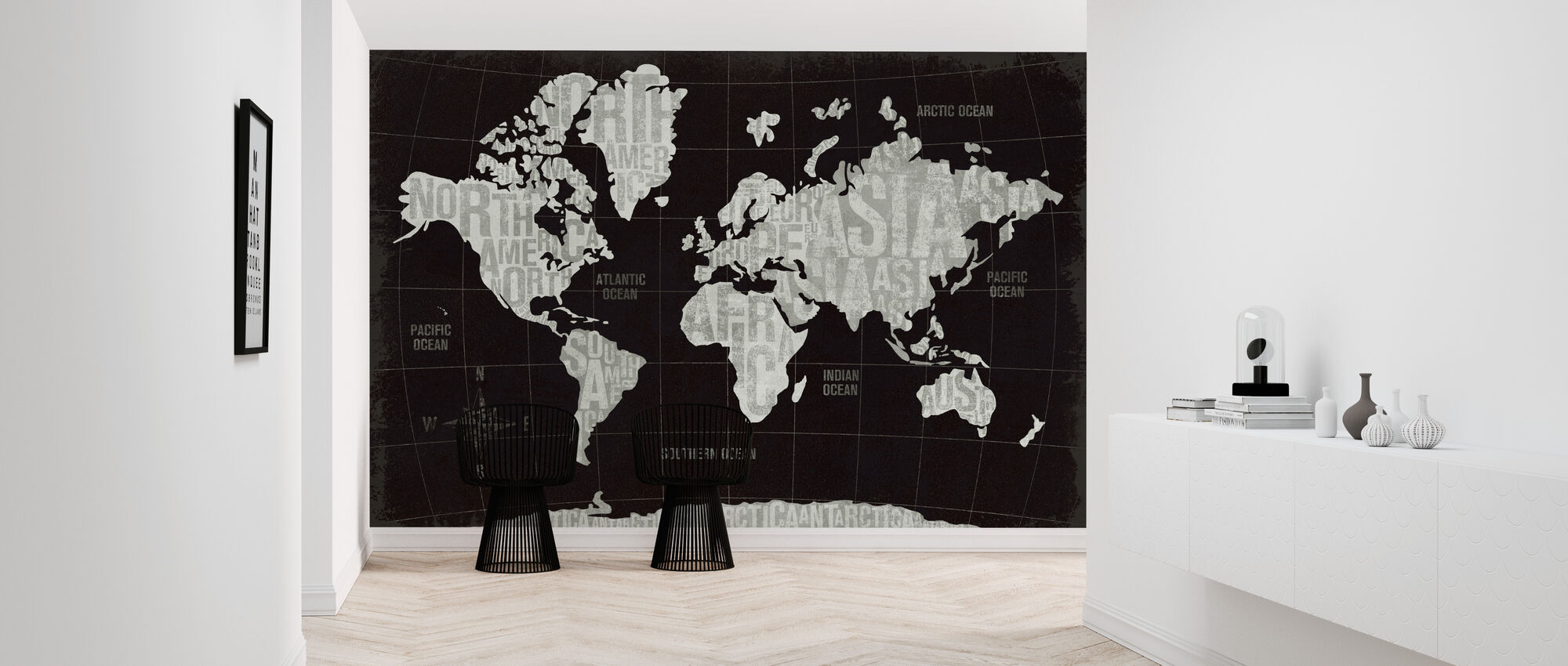 Moderni maailma musta - Tapetti - Aula