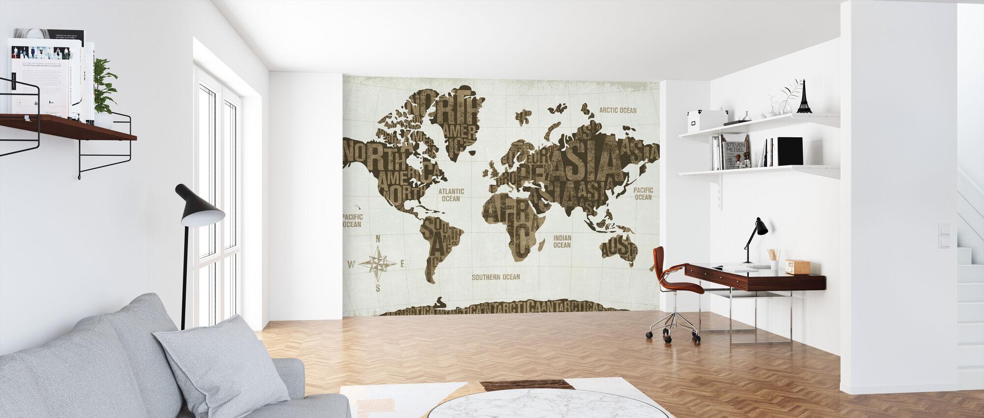 Modern World Gold - Wallpaper - Office