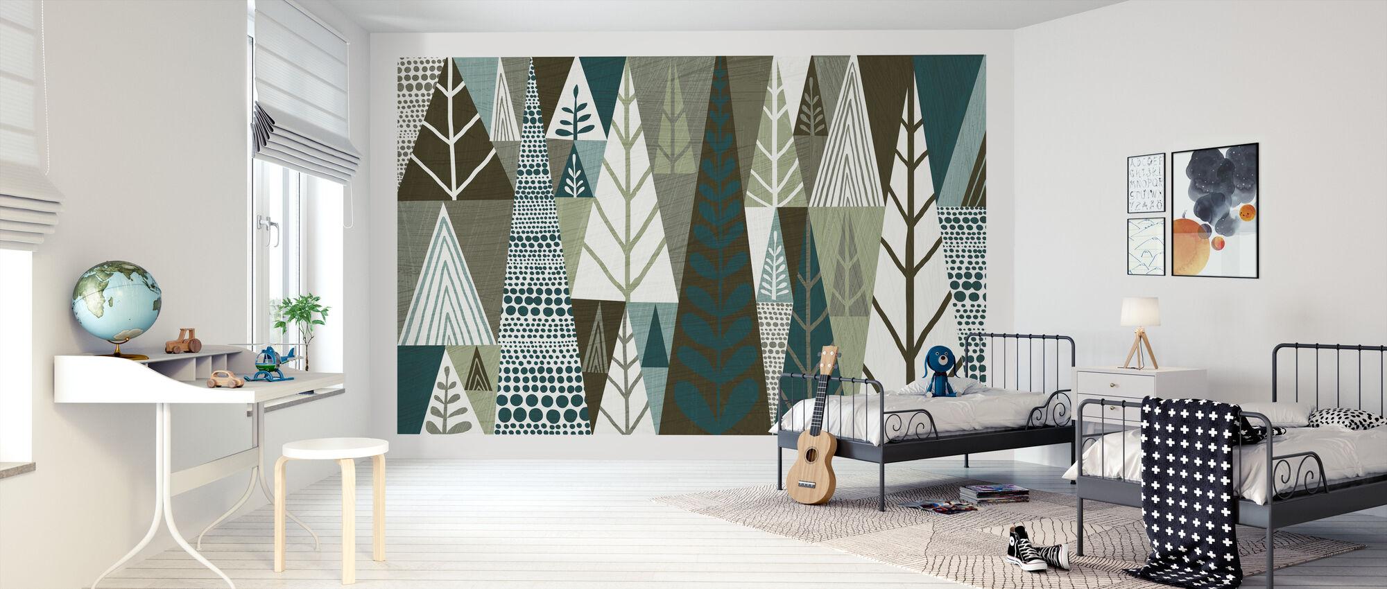 Geometrinen metsä - Tapetti - Lastenhuone