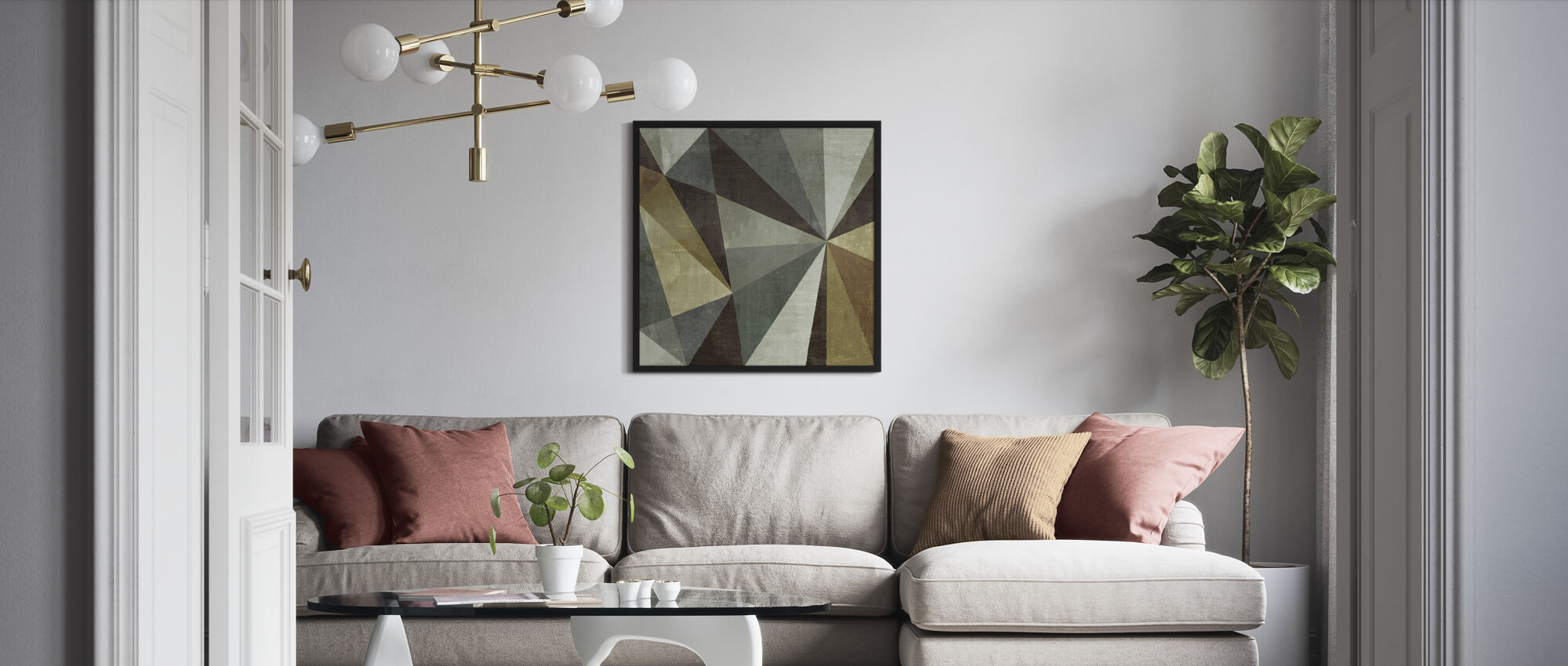 Triangulawesome - Framed print - Living Room