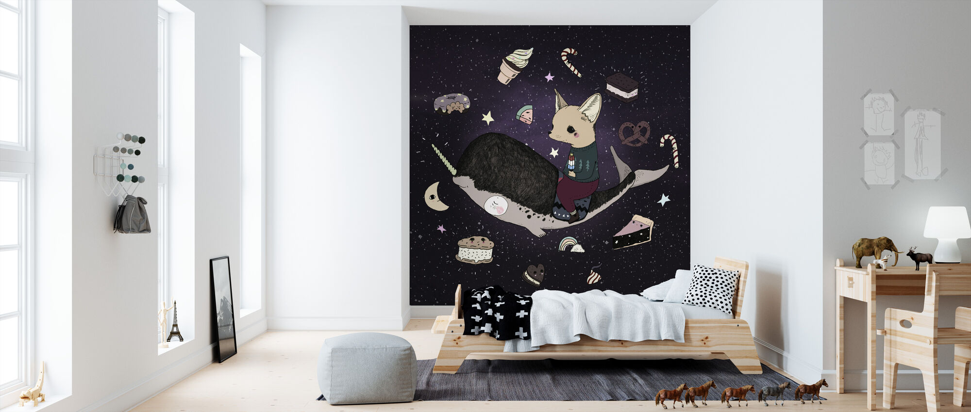 Candy Space - Wallpaper - Kids Room