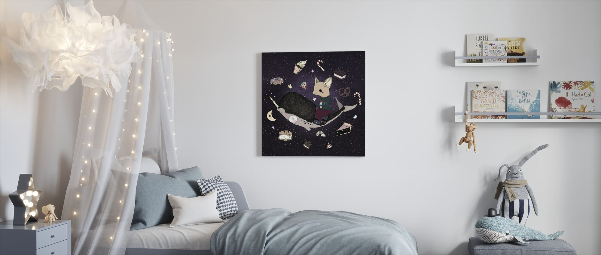 Candy Space - Lerretsbilde - Barnerom