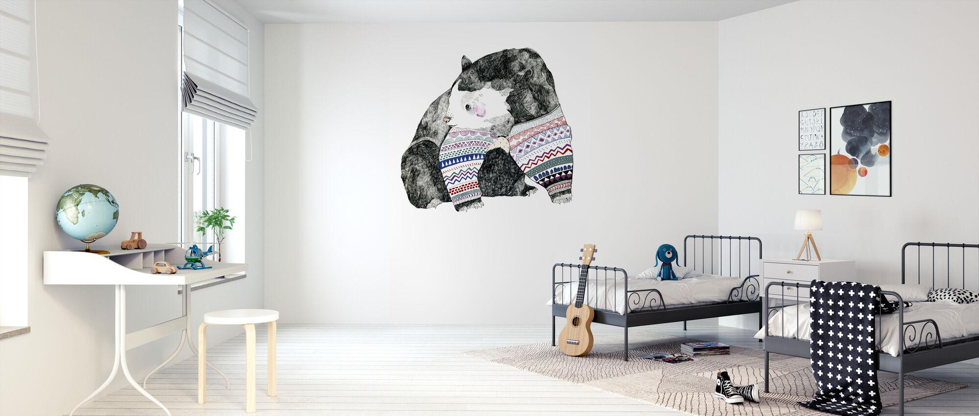 Knitted Bear - Wallpaper - Kids Room