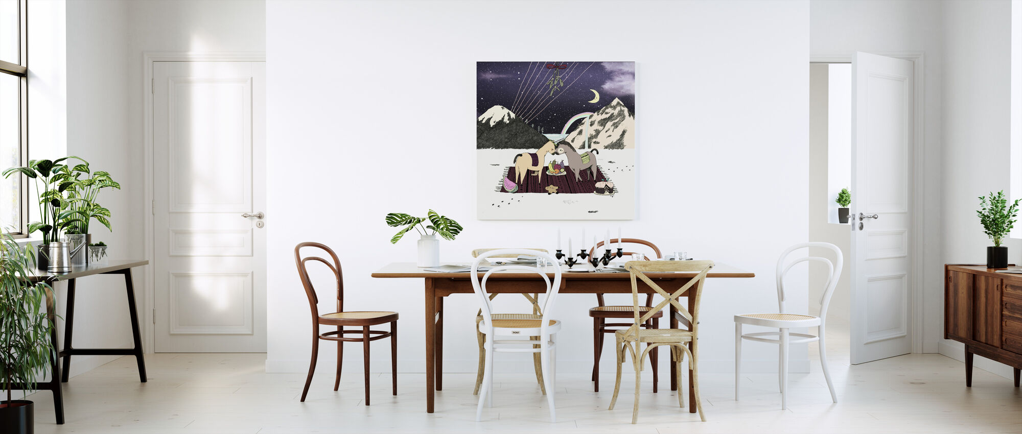Unicorn Picnic - Canvas print - Kitchen