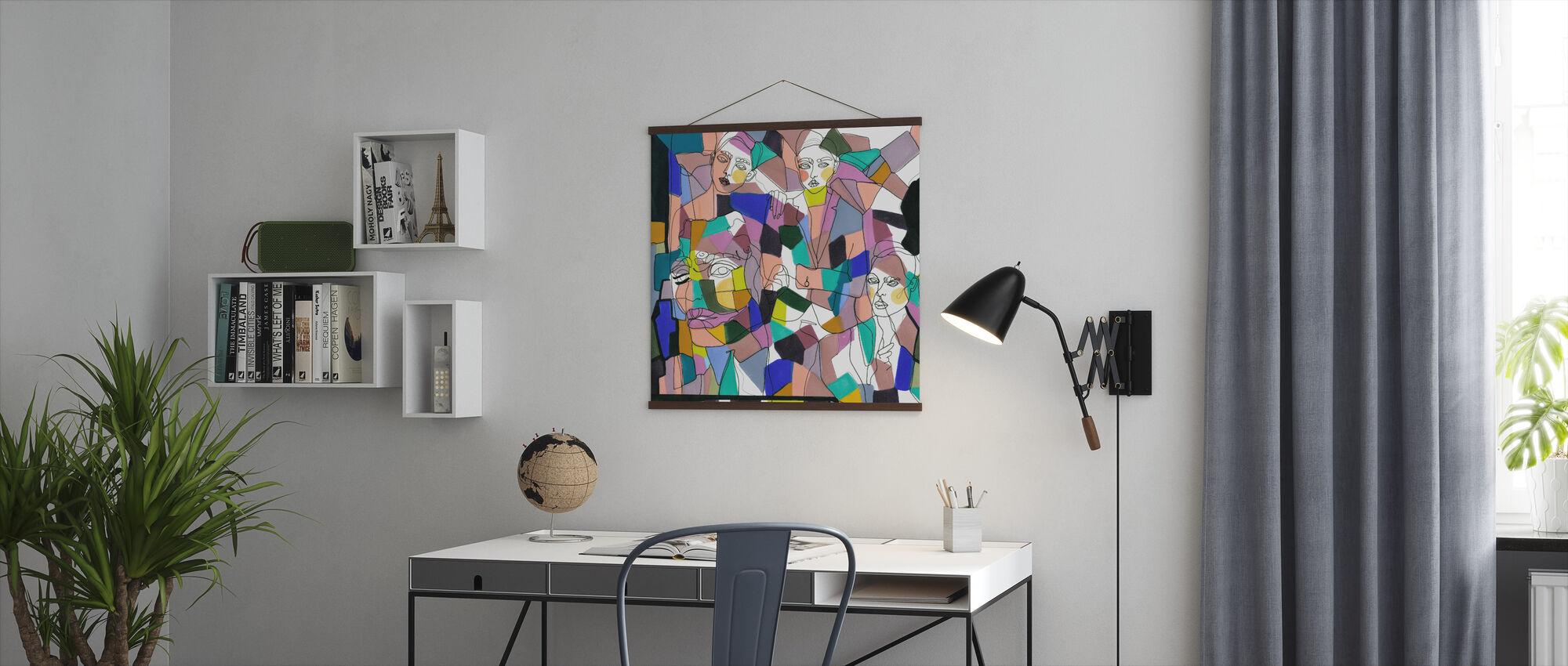 Confetti Meisjes - Poster - Kantoor