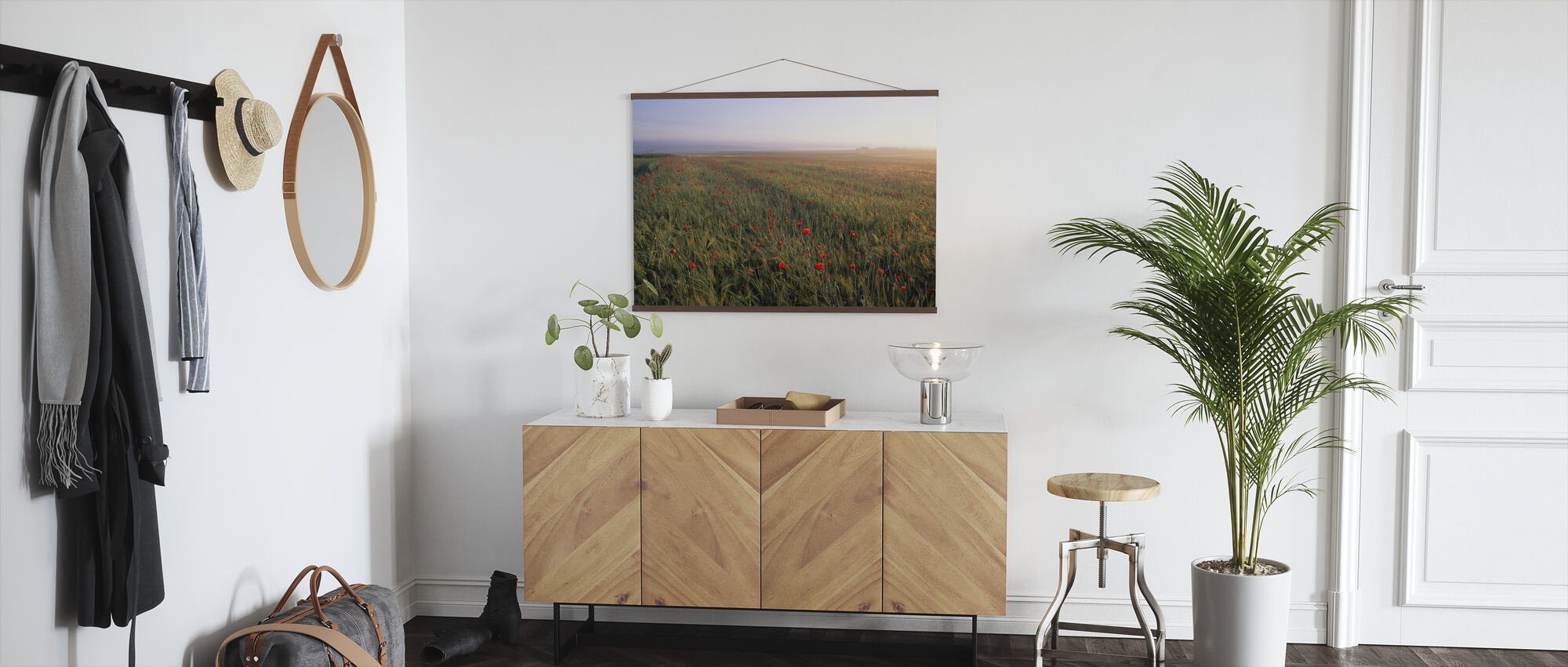Dreamy Fields of Poppies - Poster - Hallway