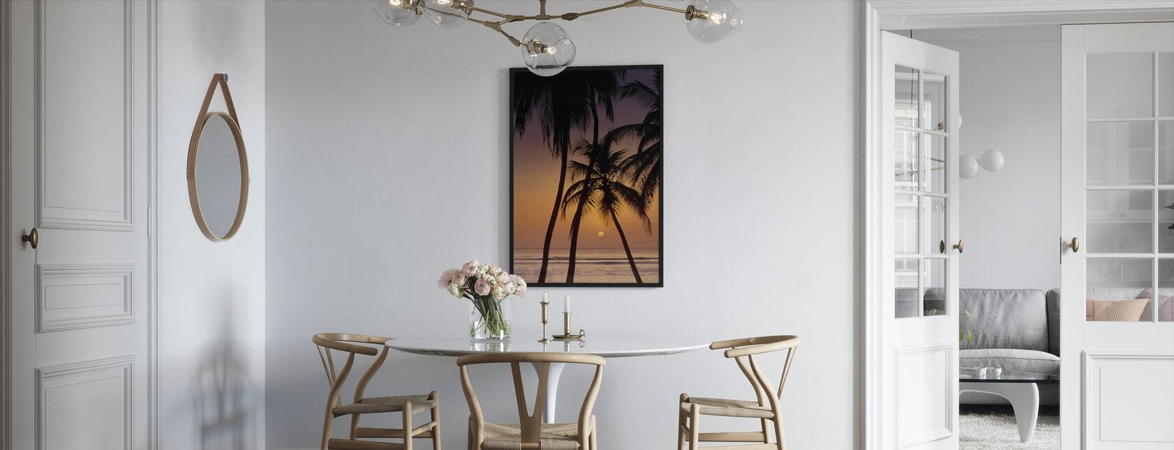 Caribbean Sunset - Innrammet bilde - Kjøkken